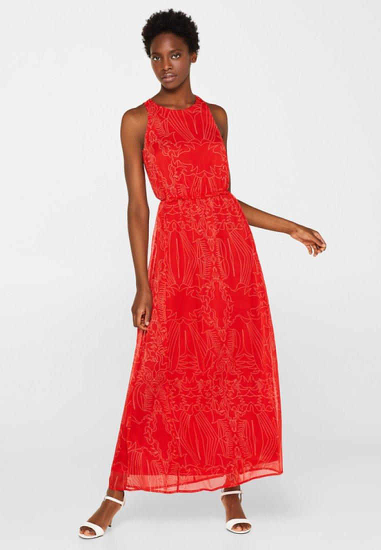 Esprit Collection - MIT VERSPIELTEN DETAILS - Maxikleid - orange red