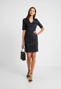 Esprit Collection - CHECKED DRESS - Fodralklänning - navy - 1