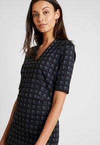 Esprit Collection - CHECKED DRESS - Fodralklänning - navy - 4