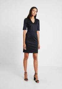 Esprit Collection - CHECKED DRESS - Fodralklänning - navy - 0