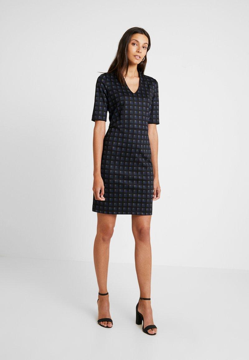 Esprit Collection - CHECKED DRESS - Fodralklänning - navy
