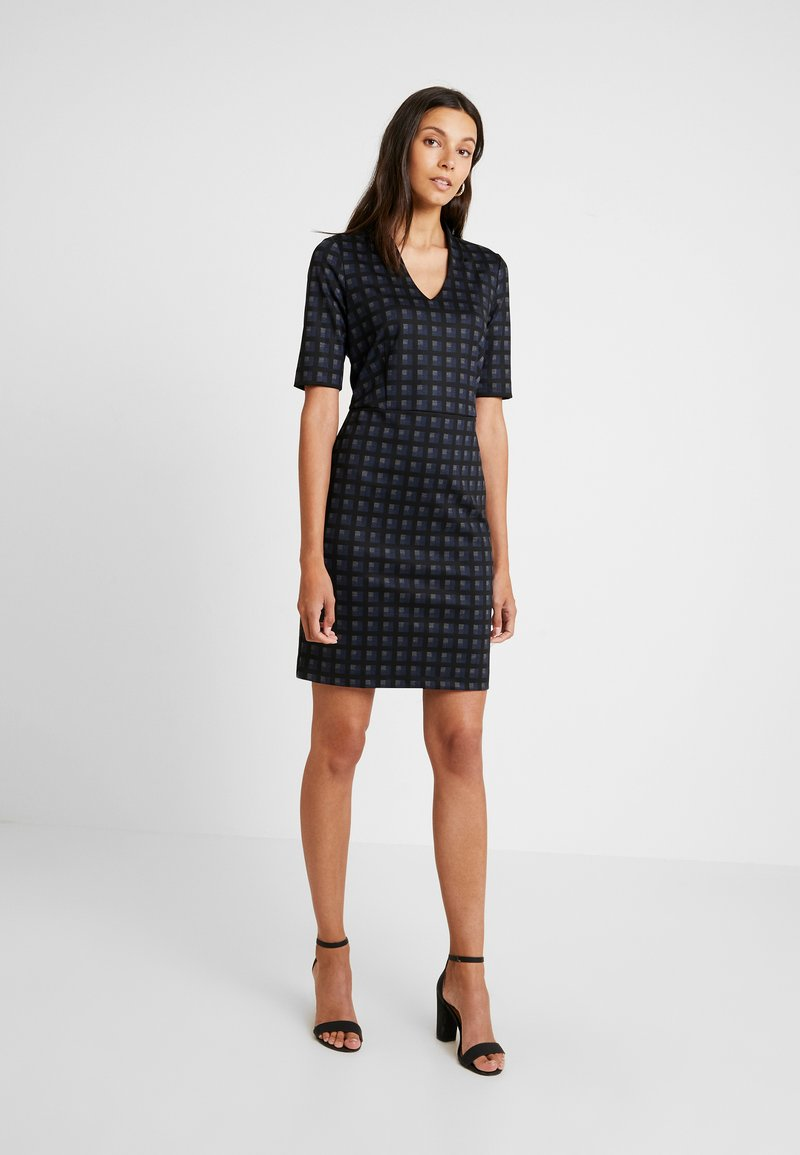 Esprit Collection - CHECKED DRESS - Etuikleid - navy
