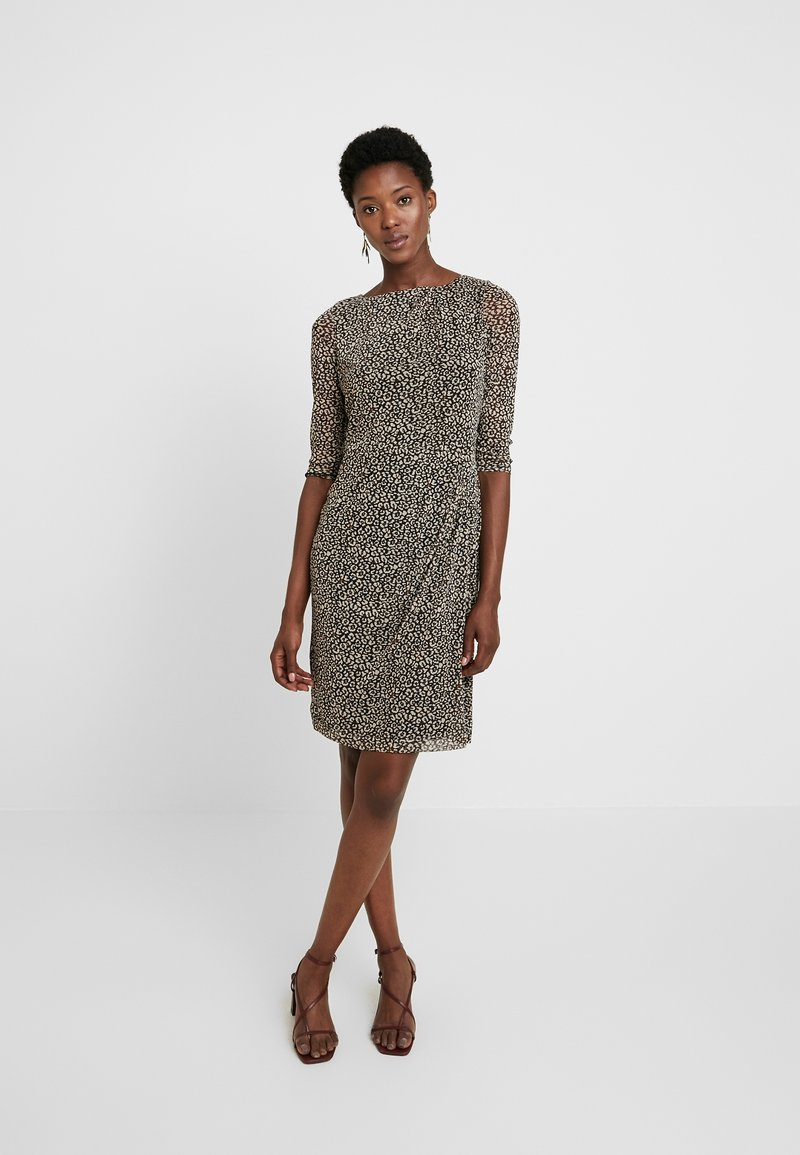 Esprit Collection - PRINTED - Pouzdrové šaty - black