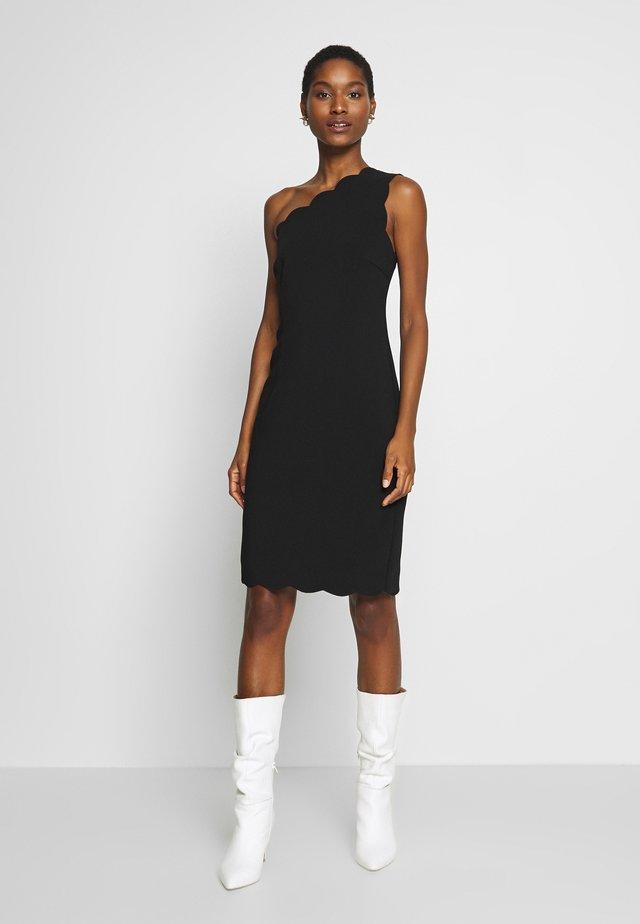 SCALLOPED EDGE - Vestido informal - black
