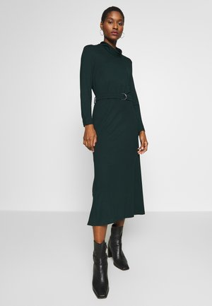 ROLL NECK DRESS - Jerseyjurk - dark teal green
