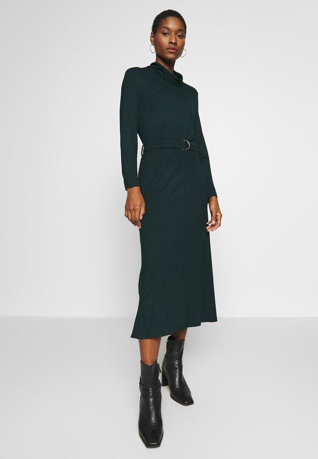 ROLL NECK DRESS - Jerseyjurk - dark teal green