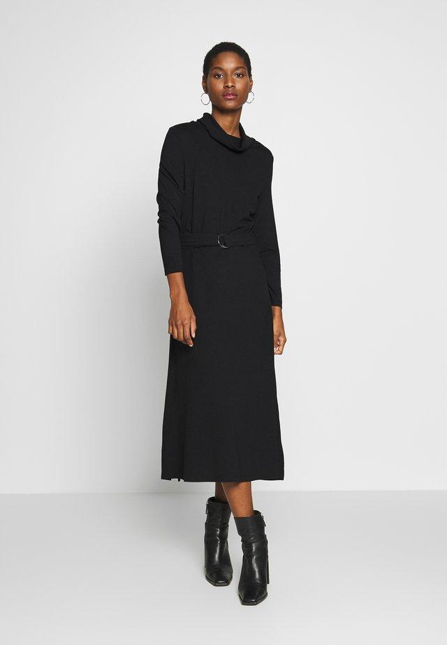 ROLL NECK DRESS - Jerseyjurk - black