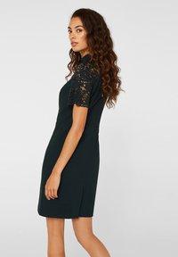 Esprit Collection - DRESS - Shift dress - dark teal green - 3