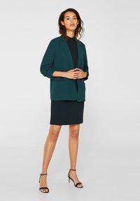 Esprit Collection - DRESS - Shift dress - dark teal green - 1