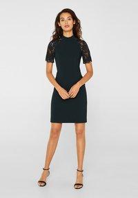 Esprit Collection - DRESS - Shift dress - dark teal green - 2