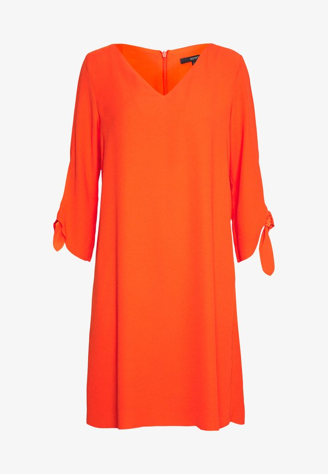 DRESS - Day dress - red orange