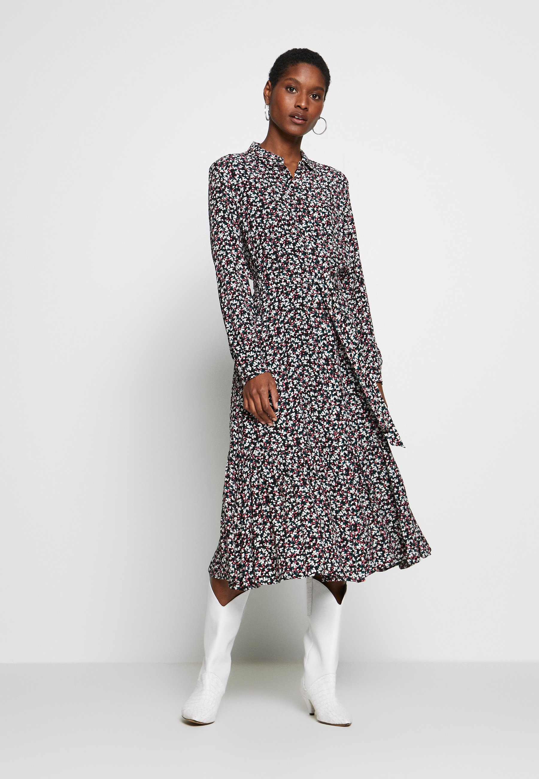 Esprit Collection VOLANT - Sukienka koszulowa - black