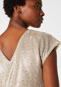 Esprit Collection - MIT PAILLETTEN - Cocktail dress / Party dress - cream beige - 3