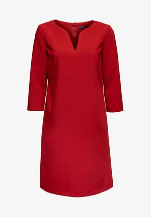 MIT V-AUSSCHNITT - Day dress - dark red
