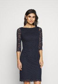Esprit Collection - LEAVE STRETCH - Vestido de cóctel - navy - 0