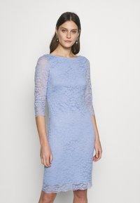 Esprit Collection - LEAVE STRETCH - Vestido de cóctel - blue lavender - 0