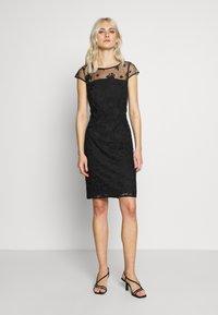 Esprit Collection - DEGRADÉ FLORAL - Cocktail dress / Party dress - black - 1