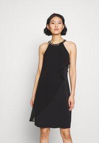 Esprit Collection - LUX FLUID - Vestido de cóctel - black - 0