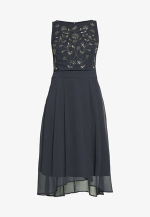 CRINKLED - Cocktail dress / Party dress - navy