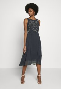 Esprit Collection - CRINKLED - Sukienka koktajlowa - navy - 0