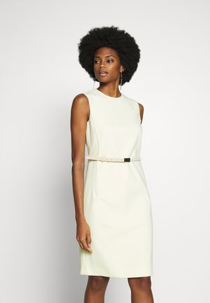 DRESS - Korte jurk - lime yellow