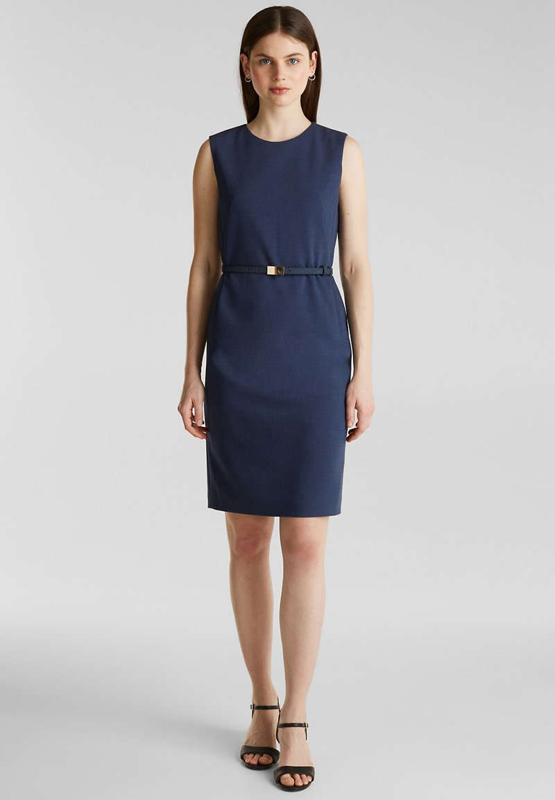 Esprit Collection - DRESS - Korte jurk - grey blue