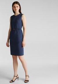 Esprit Collection - DRESS - Korte jurk - grey blue - 1