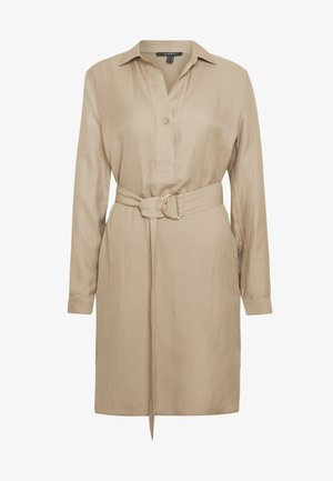 CV/LINEN MIX - Shirt dress - beige