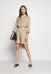 Esprit Collection - CV/LINEN MIX - Shirt dress - beige - 1