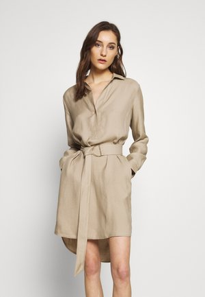 CV/LINEN MIX - Shirt dress - beige