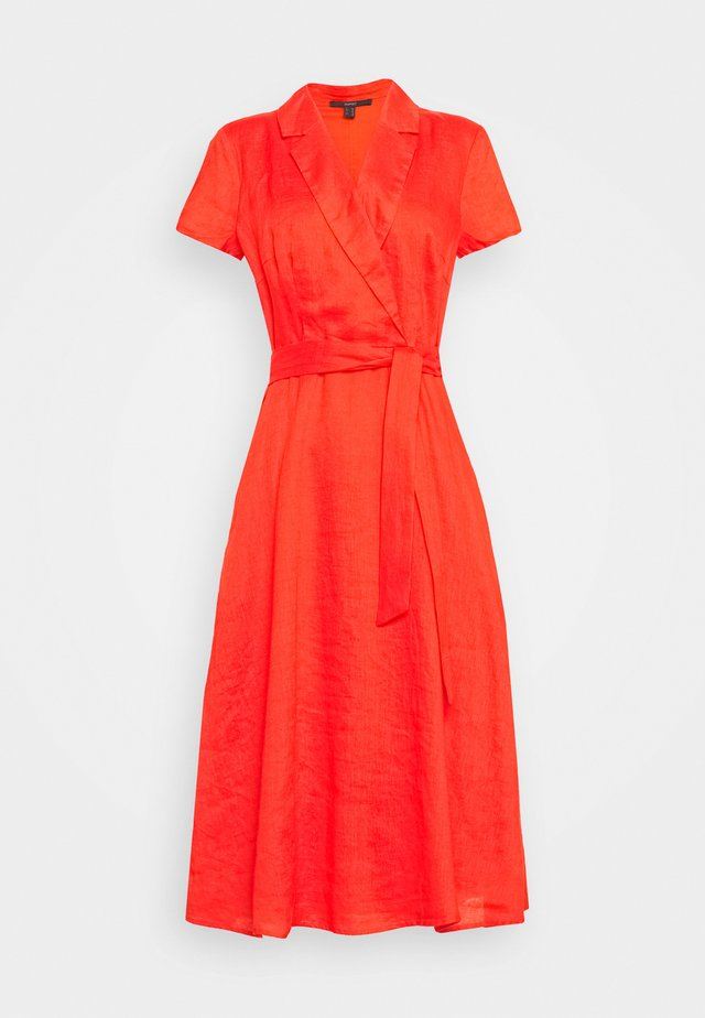 SPRING - Korte jurk - red orange