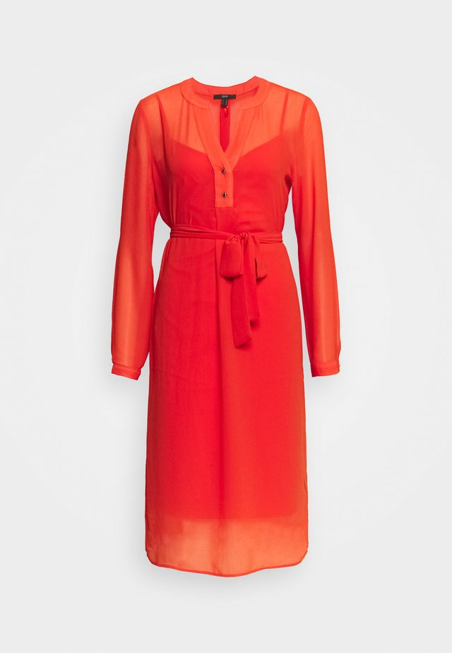DRESS - Korte jurk - red orange
