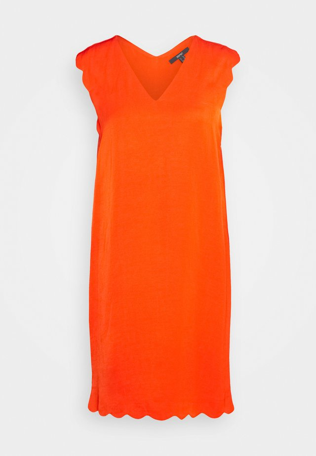 MIX - Korte jurk - red orange