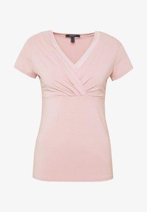 OVERLAP - T-shirts med print - old pink