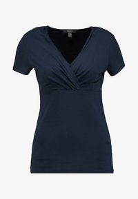 Esprit Collection - OVERLAP - T-shirts med print - navy - 4