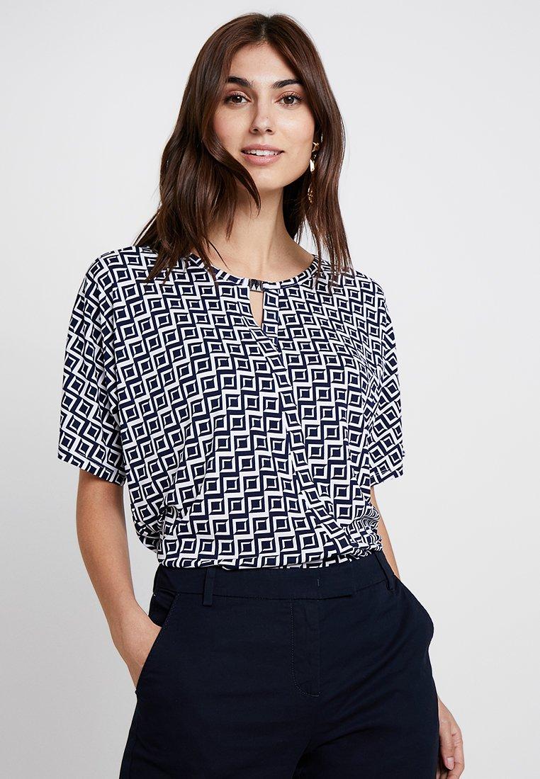 Esprit Collection - METAL GLASP - T-Shirt print - navy