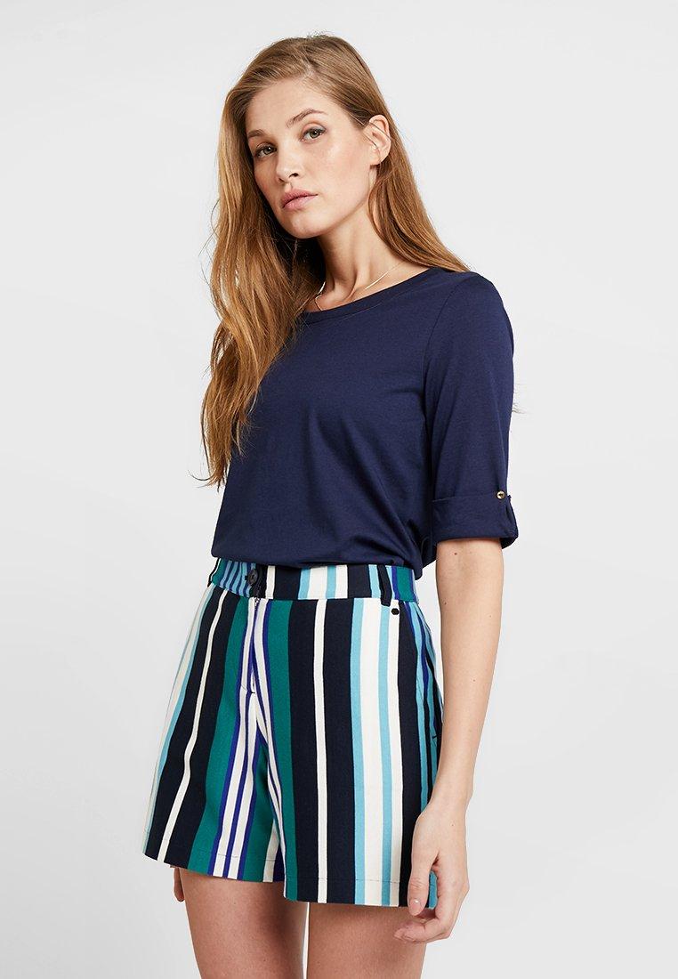 Esprit Collection - TURN TEE - T-Shirt basic - navy