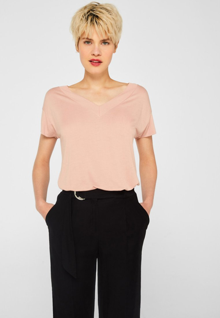 Esprit Collection - LENZING ECOVERO - T-Shirt basic - light pink