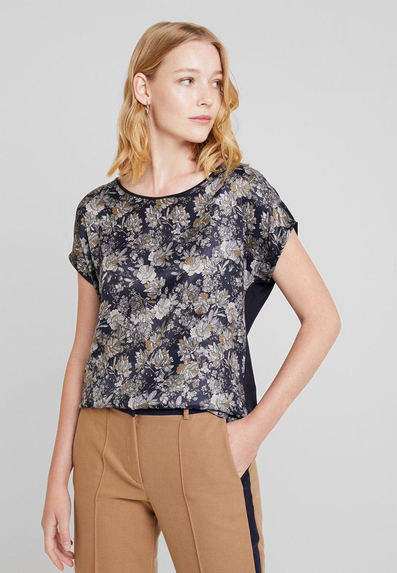Esprit Collection - FLORAL TEE - T-Shirt print - navy