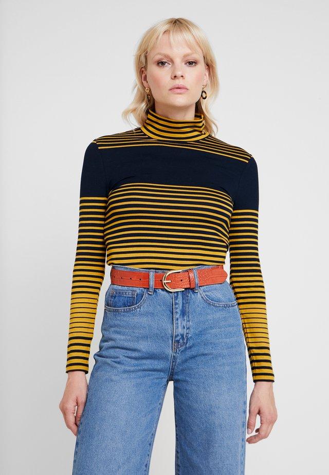 STRIPED - Camiseta de manga larga - amber yellow