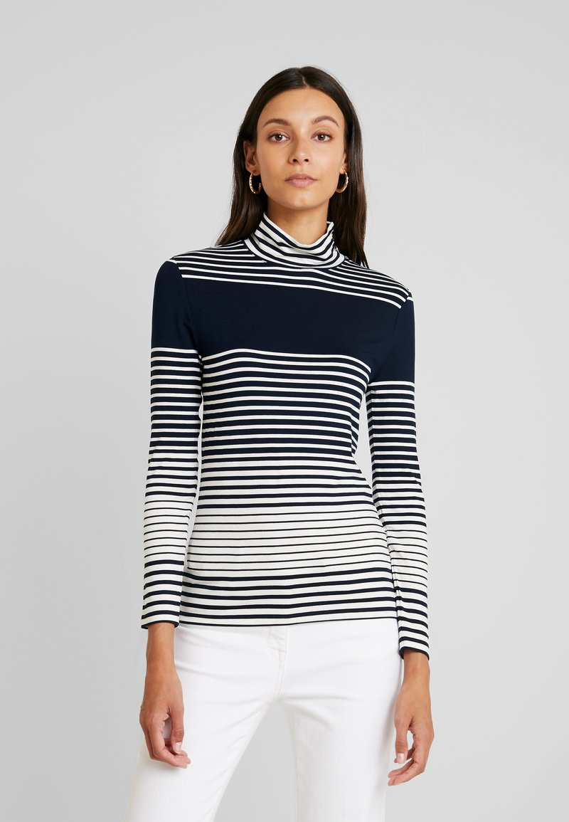 Esprit Collection - STRIPED - Long sleeved top - navy