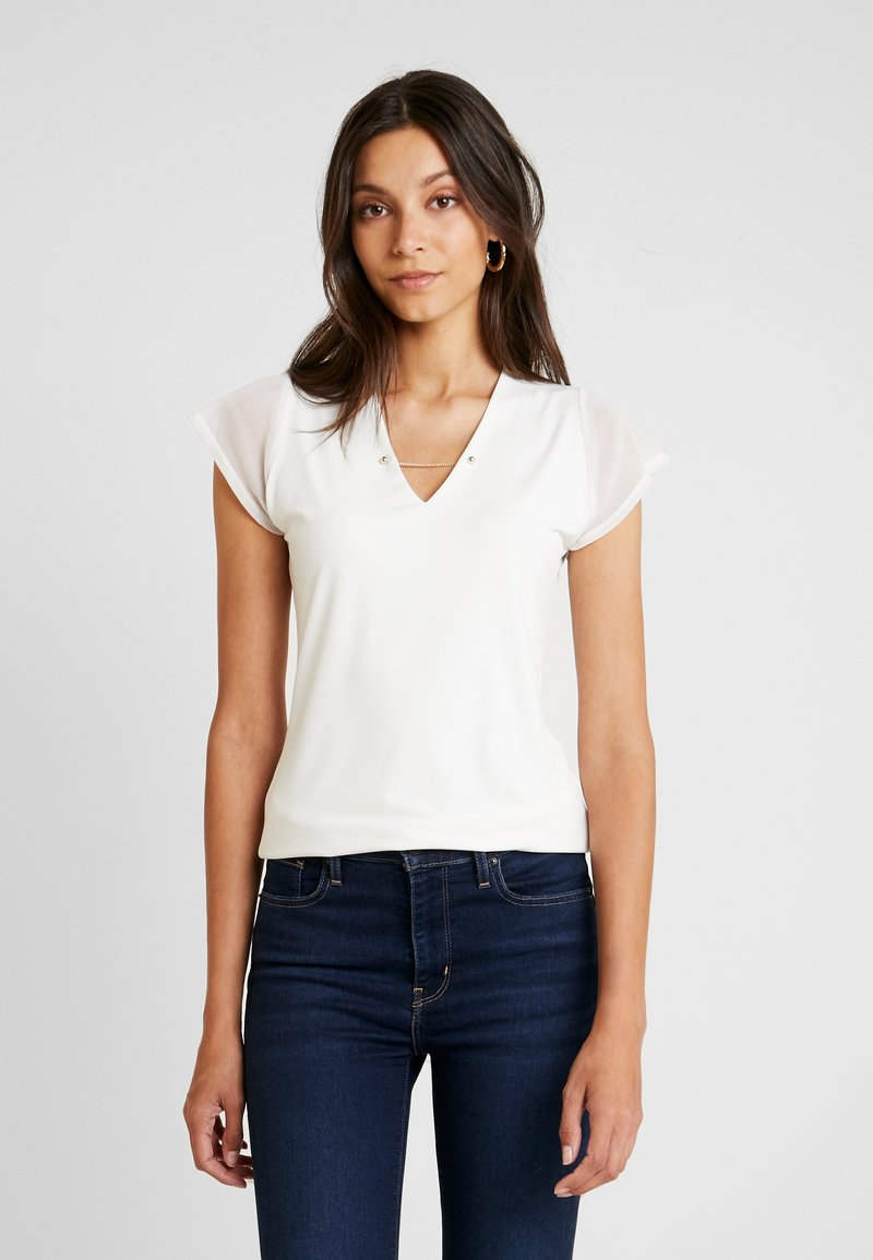 Esprit Collection - V NECK - T-Shirt print - off white