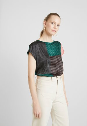 COLBLOCK TEE - Bluser - bottle green
