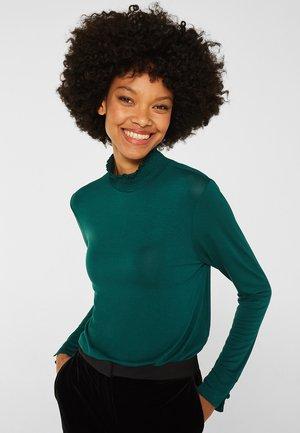 Long sleeved top - bottle green
