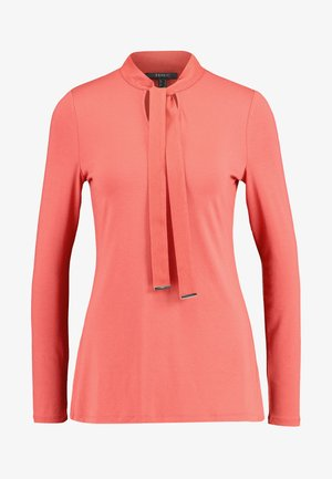 TIE DETAIL  - Long sleeved top - terracotta
