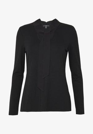 TIE DETAIL  - Long sleeved top - black