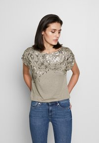 Esprit Collection - TEE - T-shirts med print - light taupe - 0