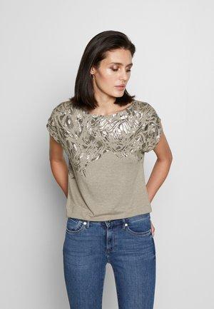 TEE - T-shirt z nadrukiem - light taupe