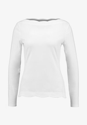 SCALLOP - Long sleeved top - off white