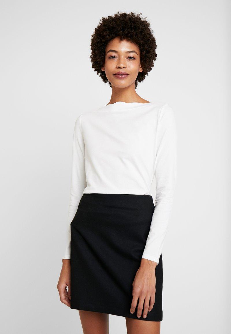 Esprit Collection - SCALLOP - Maglietta a manica lunga - off white
